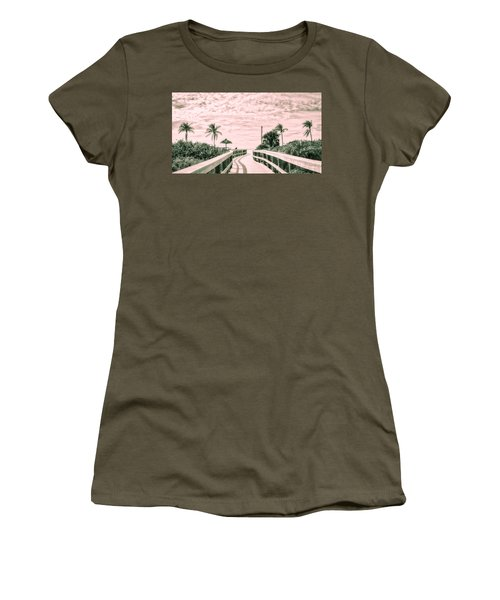 Walkway To The Beach Women's T-Shirt