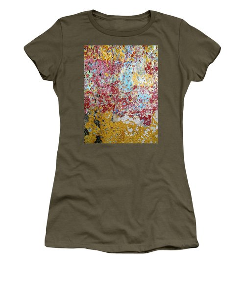 Wall Abstract 123 Women's T-Shirt (Junior Cut) by Maria Huntley