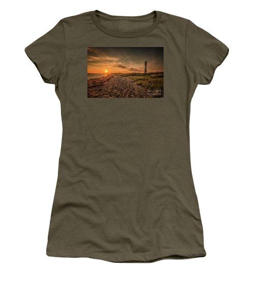 Warm Sunrise At The Fire Island Lighthouse Women's T-Shirt