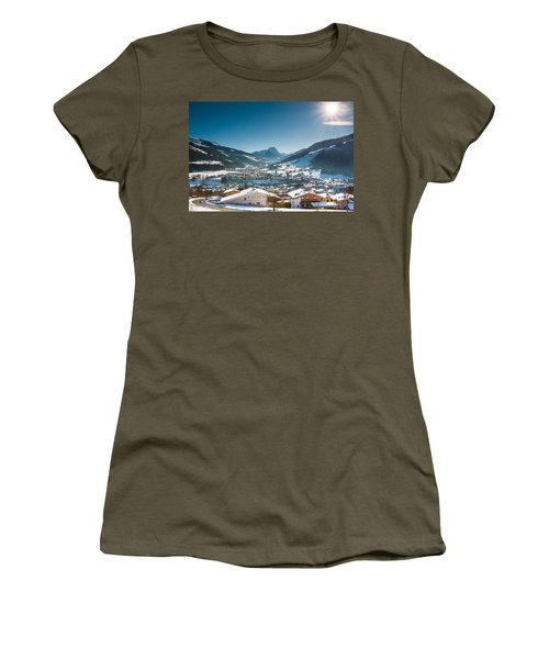 Warm Winter Day In Kirchberg Town Of Austria Women's T-Shirt
