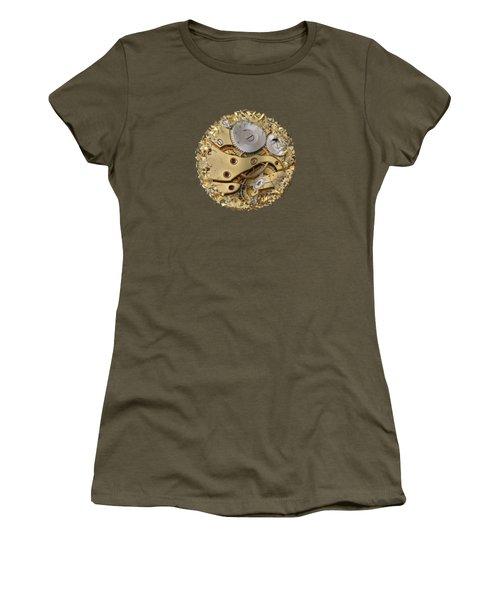 Warped And Shattered Clockwork Mechnism Women's T-Shirt (Junior Cut) by Michal Boubin