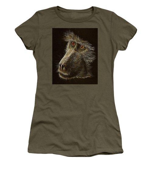Women's T-Shirt (Junior Cut) featuring the drawing Watching You by Heidi Kriel