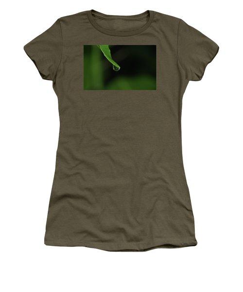 Women's T-Shirt (Junior Cut) featuring the photograph Water Drop by Richard Rizzo