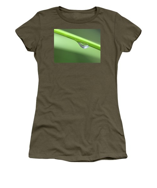 Women's T-Shirt (Junior Cut) featuring the photograph Water Droplet II by Richard Rizzo