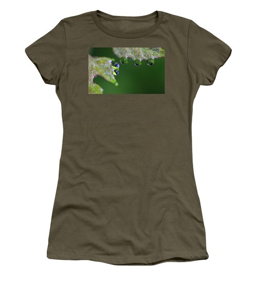Women's T-Shirt (Junior Cut) featuring the photograph Water Droplet IIi by Richard Rizzo