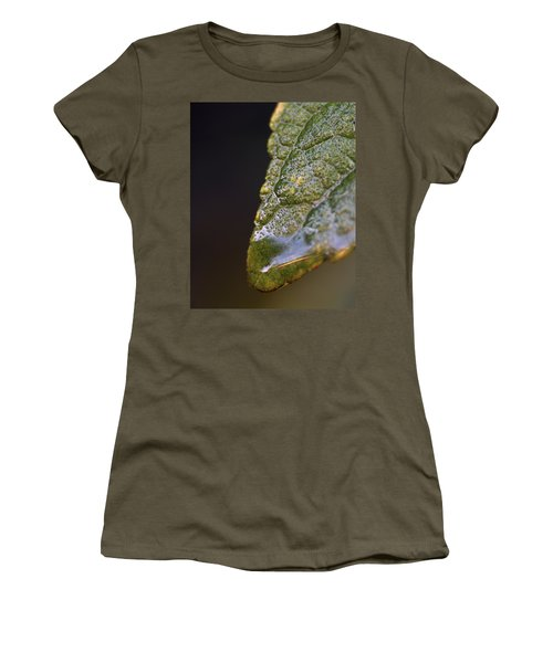 Women's T-Shirt (Junior Cut) featuring the photograph Water Droplet V by Richard Rizzo