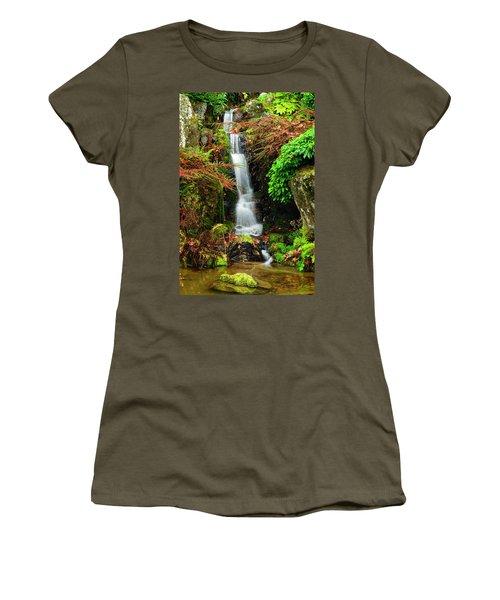 Waterfall At Kubota Garden Women's T-Shirt