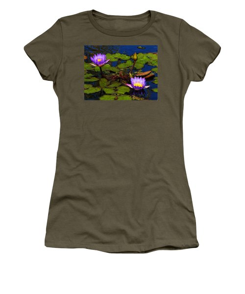 Water Lilies Iv Women's T-Shirt (Athletic Fit)