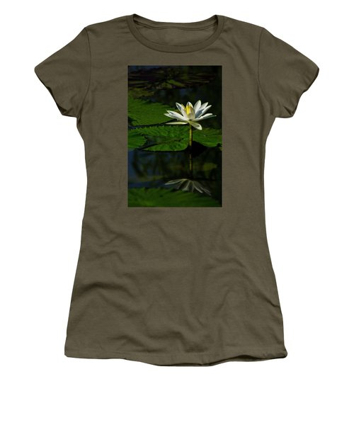 Women's T-Shirt (Athletic Fit) featuring the photograph Water Lily 1 by Buddy Scott