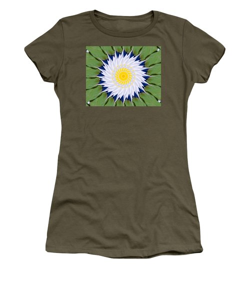 Water Lily Kaleidoscope Women's T-Shirt (Junior Cut)