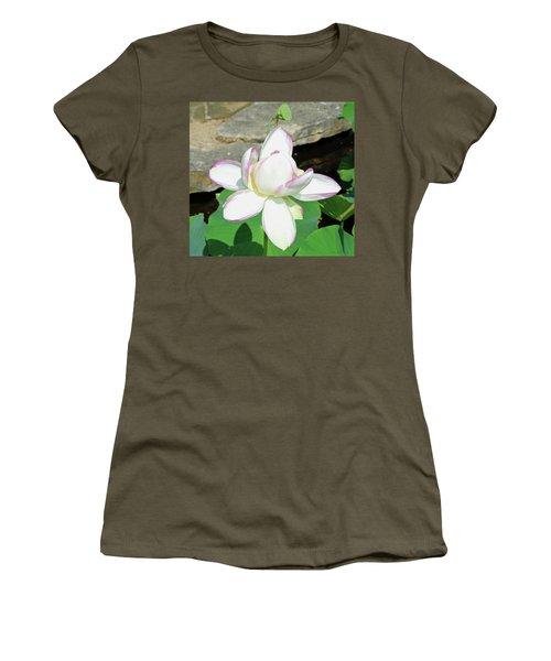 Water Lotus Women's T-Shirt (Junior Cut) by Inspirational Photo Creations Audrey Woods