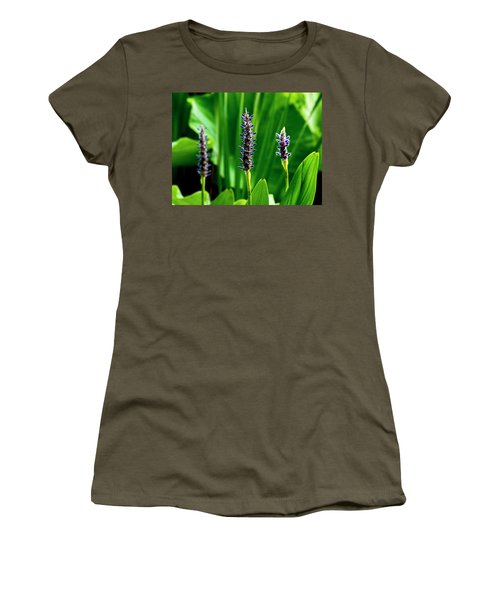 Women's T-Shirt (Athletic Fit) featuring the photograph Water Plants 2017 1 by Buddy Scott