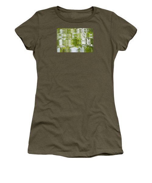 Women's T-Shirt (Junior Cut) featuring the photograph Water Reflections by Wanda Krack
