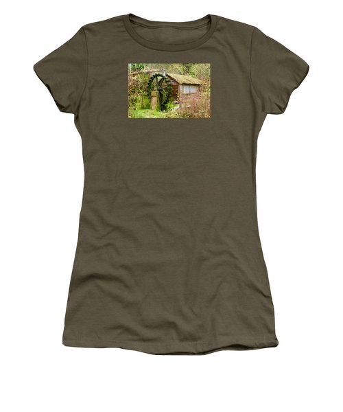 Water Wheel Women's T-Shirt (Athletic Fit)