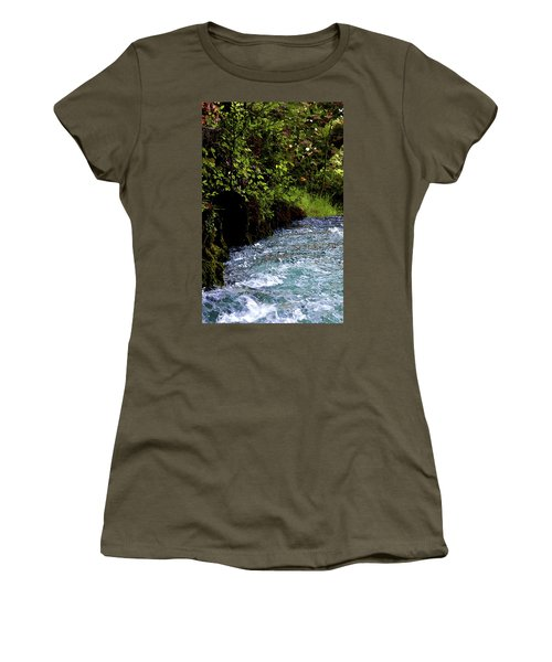 Watercolor Big Springs Missouri 2125 W_2 Women's T-Shirt (Athletic Fit)