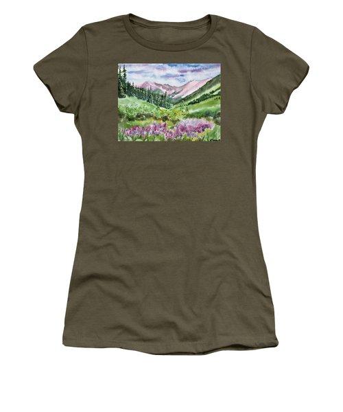 Watercolor - San Juans Mountain Landscape Women's T-Shirt