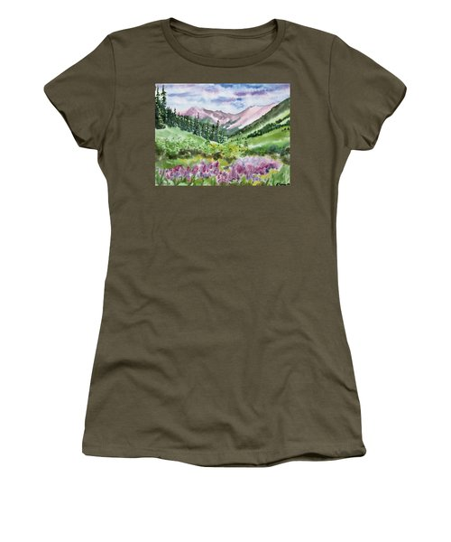 Watercolor - San Juans Mountain Landscape Women's T-Shirt