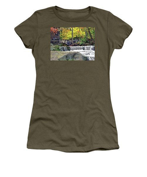 Waterfall At Olmsted Falls - 1 Women's T-Shirt