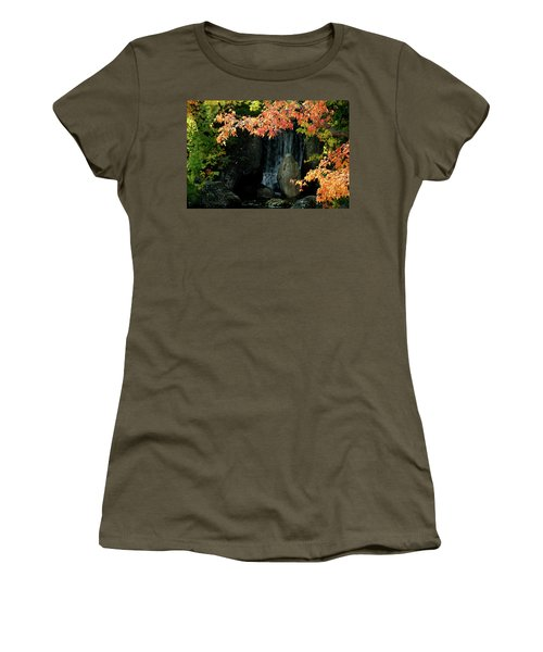 Waterfall In The Garden Women's T-Shirt (Athletic Fit)