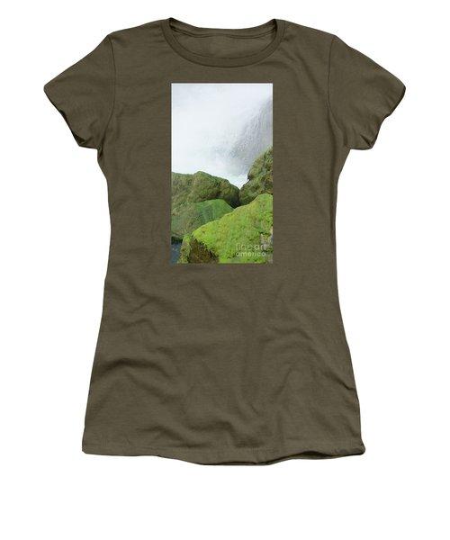 Women's T-Shirt (Junior Cut) featuring the photograph Waterfall by Raymond Earley