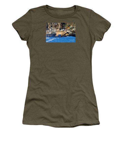 Waterhole Gathering Women's T-Shirt (Junior Cut) by Sandra Updyke