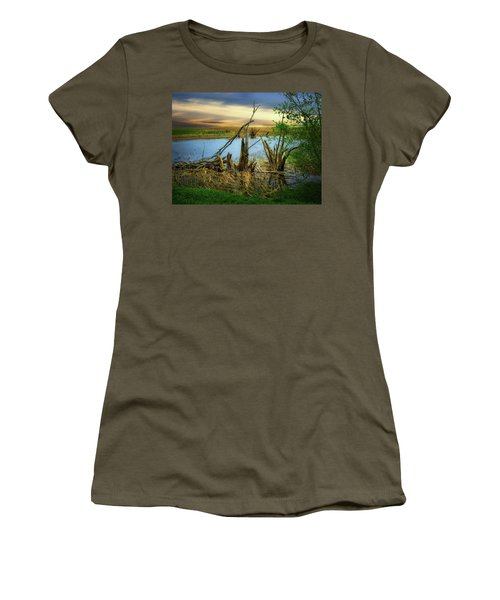 Watering Hole Women's T-Shirt (Athletic Fit)