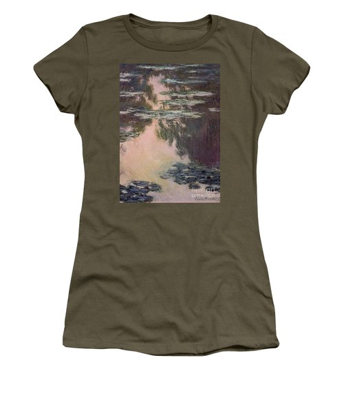 Waterlilies With Weeping Willows Women's T-Shirt