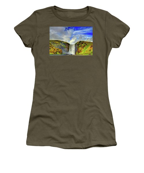Women's T-Shirt (Junior Cut) featuring the photograph Watermall And Mist by Scott Mahon