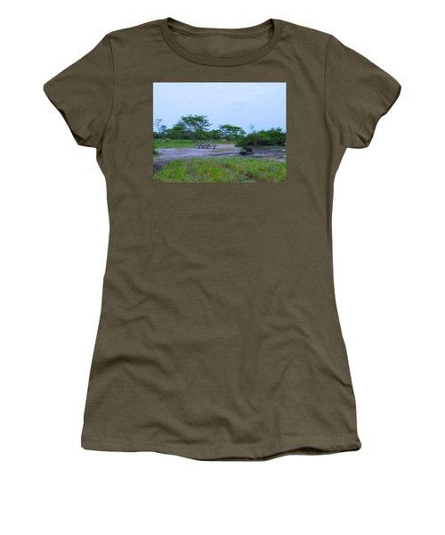 We Live Happily Side By Side Women's T-Shirt (Junior Cut) by Exploramum Exploramum