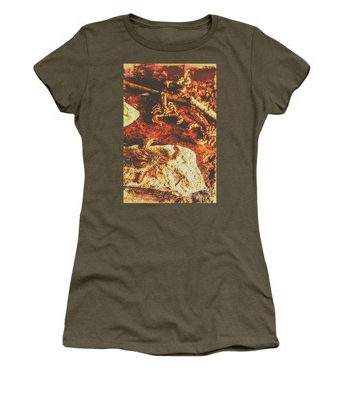 Weathered Scorpion Art Women's T-Shirt