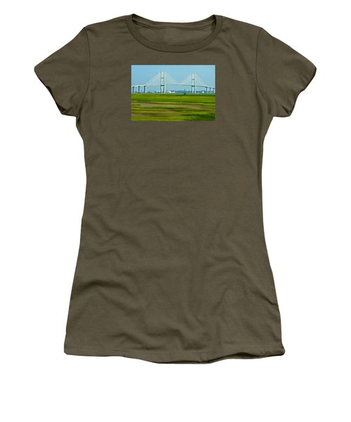 Women's T-Shirt (Junior Cut) featuring the photograph Welcome To Brunswick by Laura Ragland