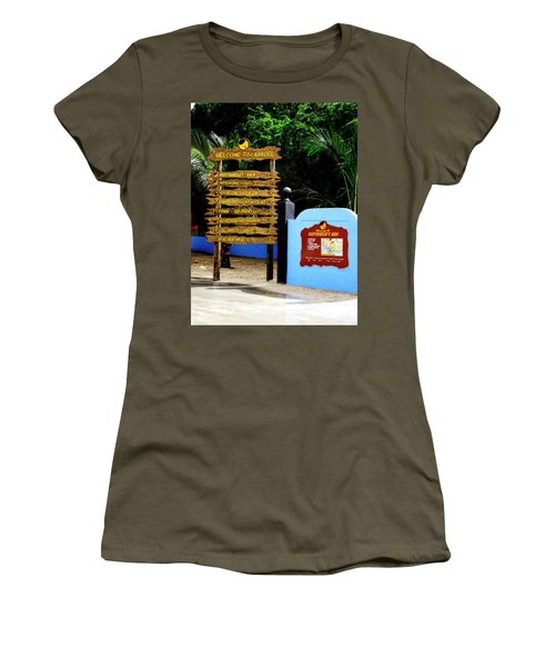 Welcome To Labadee Women's T-Shirt (Junior Cut) by Shelley Neff