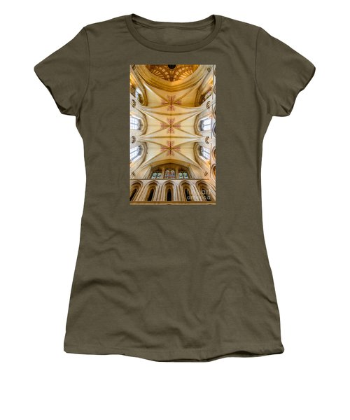 Women's T-Shirt (Junior Cut) featuring the photograph Wells Cathedral Ceiling by Colin Rayner