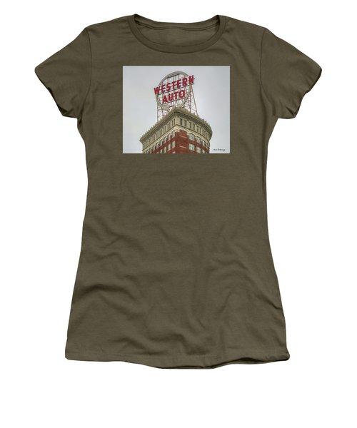Western Auto 2 Lofts Building Kansas City Architecture Art Women's T-Shirt