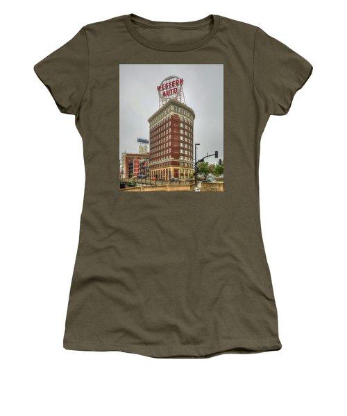Western Auto Lofts Building Kansas City Architecture Art Women's T-Shirt