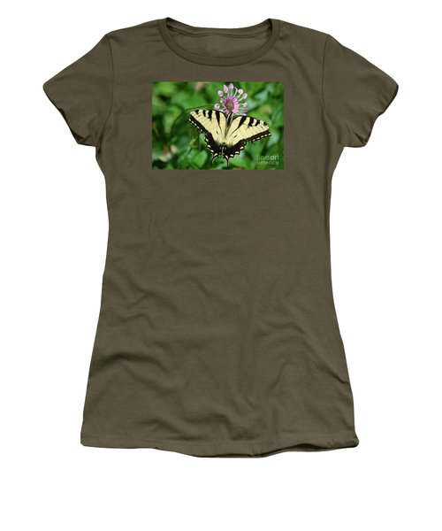 Women's T-Shirt (Athletic Fit) featuring the photograph Western Tiger Swallowtail by Frank Stallone