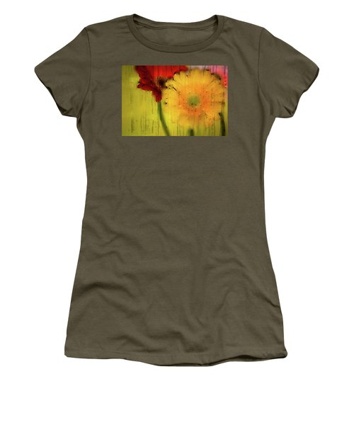 Wet Glass Flowers Women's T-Shirt (Athletic Fit)
