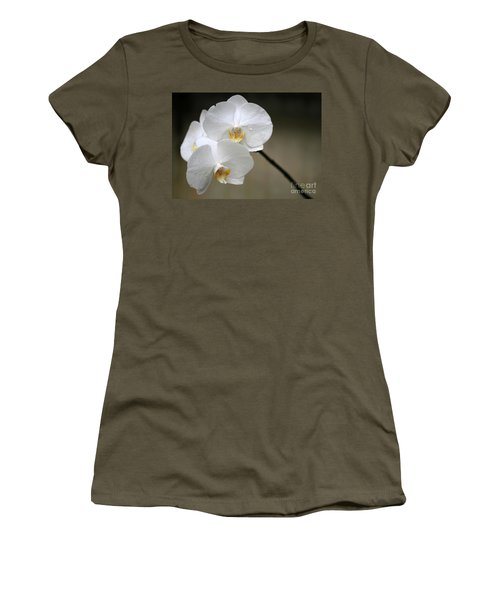 Wet White Orchids Women's T-Shirt