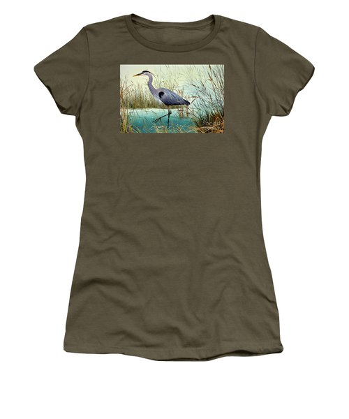 Women's T-Shirt (Junior Cut) featuring the painting Wetland Beauty by James Williamson