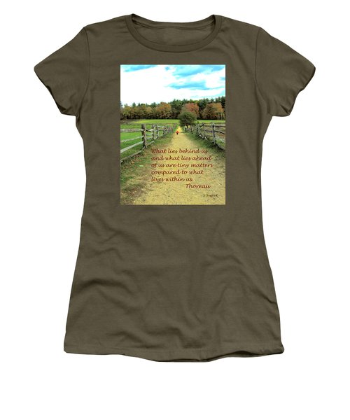 What Lies Ahead Women's T-Shirt (Athletic Fit)