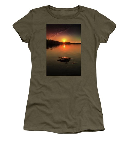 Where Heaven Touches The Earth Women's T-Shirt (Junior Cut) by Rose-Marie Karlsen
