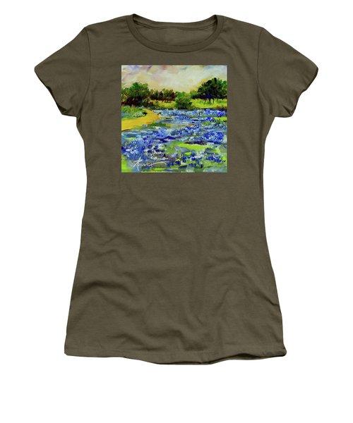 Where The Beautiful Bluebonnets Grow Women's T-Shirt