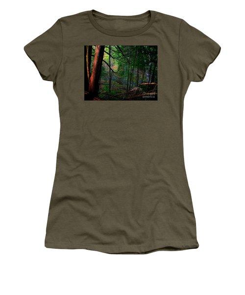 Whisperings Women's T-Shirt (Junior Cut) by Elfriede Fulda