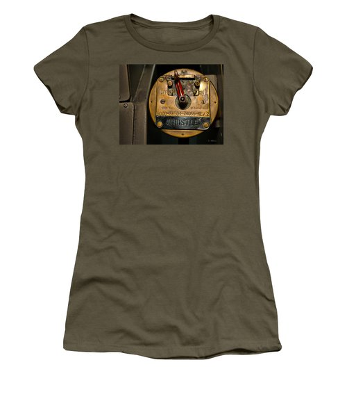 Women's T-Shirt featuring the photograph Whistle Switch by Christopher Holmes