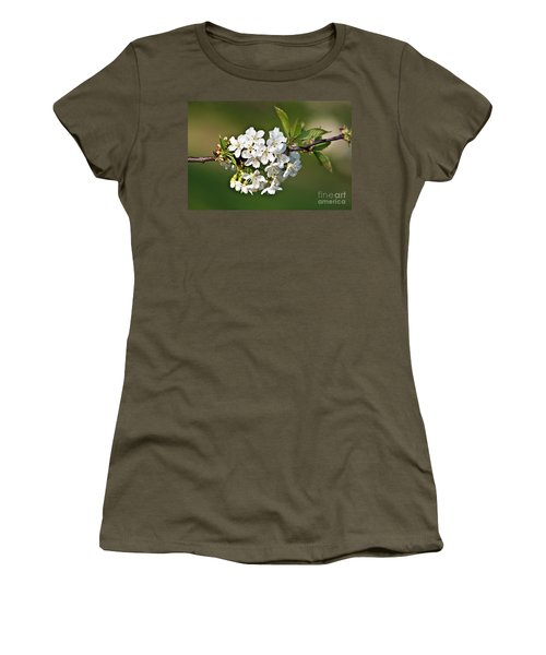 White Apple Blossoms Women's T-Shirt