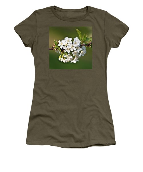 White Apple Blossoms Women's T-Shirt (Athletic Fit)