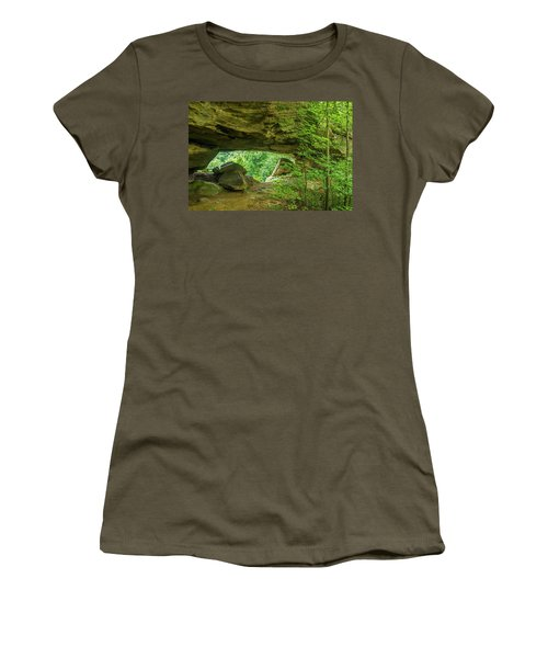 White Branch Arch Women's T-Shirt (Athletic Fit)