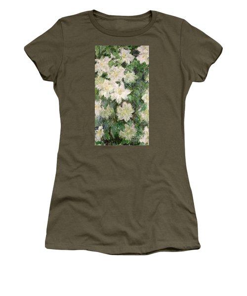 White Clematis Women's T-Shirt