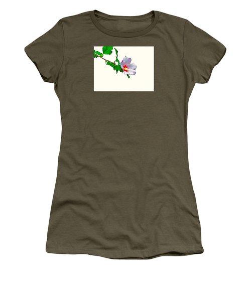 White Flower And Leaves Women's T-Shirt