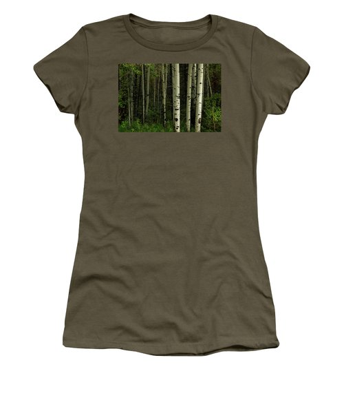 Women's T-Shirt (Athletic Fit) featuring the photograph White Forest by James BO Insogna